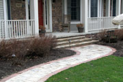 Stone brick/paver path and entry steps
