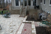 After patio and stairs
